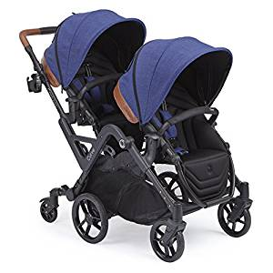 Contours Curve Tandem Double Stroller for Infant and Toddler – 360° Turning and Easy Handling Over Curbs