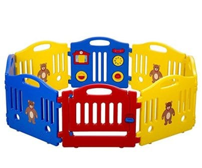 Baby Playpen Kids Playpen Baby Play Yards Fence 8 Panel Activity Centre