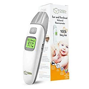 Baby Thermometer – Forehead and Ear Thermometer for Fever by DrKea – Accurate Dual Mode