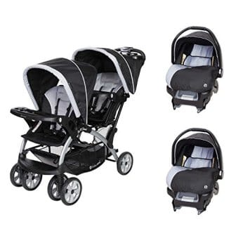 Baby Trend Sit N Stand Tandem Stroller + Car Seats (2) Travel System