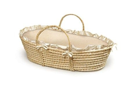 Badger Basket Natural Baby Moses Basket – EcruBeige Gingham Bedding