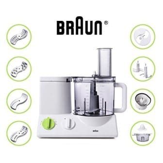 Braun Ultra powerful and Quiet motor (FP3020) 12 Cup Food Processor