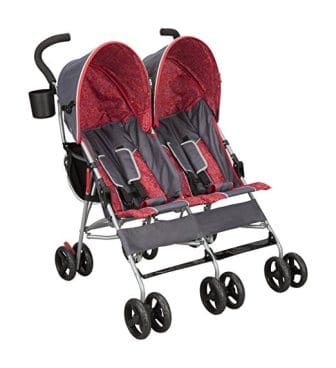 Delta Children LX Side by Side Tandem Umbrella Stroller