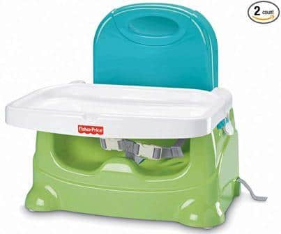 Fisher Price Healthy Care Booster Seat, Blue/Green