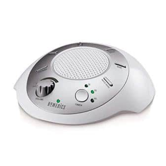 Homedics White Noise Sound Machine Portable Sleep Therapy for Home