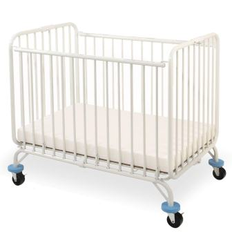 L.A. Baby Deluxe Holiday Folding Metal Crib