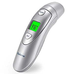 Metene Medical Forehead and Ear Thermometer, Infrared Digital Thermometer Suitable for Baby