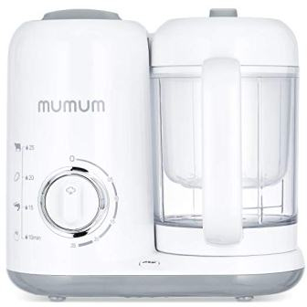 Mumum Baby 4-in-1 Baby Food Maker, Defrost, Steam, Cook & Blend
