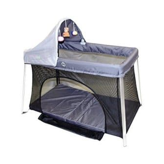 Portable Crib – Front and Top Baby Access with Sun Shade and Bug Canopy