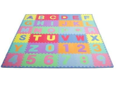 ProSource Kids Puzzle Alphabet, Numbers Play Mat