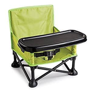 Summer Infant Pop and Sit Portable Booster, Green/Grey: