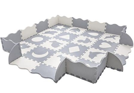 Superjare Baby Play Mat with Fence