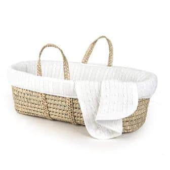 Tadpoles Cable Knit Moses Basket and Bedding Set