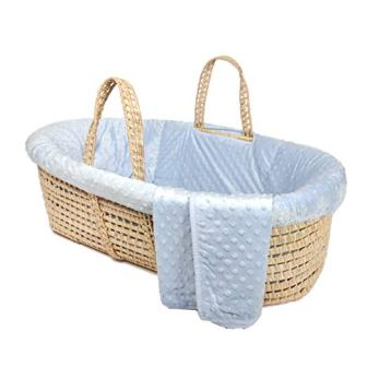Tadpoles Minky Dot Moses Basket and Bedding Set