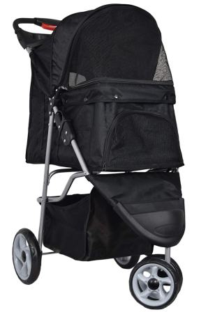 VIVO Three Wheel Pet Stroller, for Cat, Dog