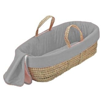 bkb Solid Color Moses Basket