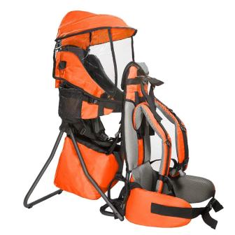 Clevr Cross Country Baby Carrier Backpack with Stand and Sun Shade Visor Child