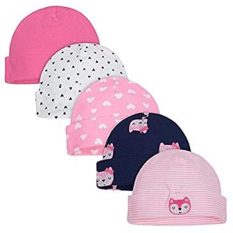 Baby Girls' 5-Pack Caps from Gerber