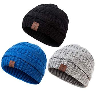 Baby Kids Winter Warm Fleece Lined Hats from REDESS