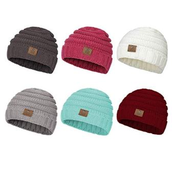 Baby Winter Hats, Kids Cable Knit Caps from Zando