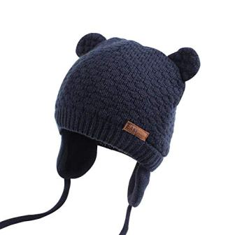 Earflap Beanie Baby Hat, Warm for Fall Winter from XIAOHAWANG