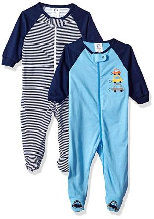 Gerber Baby Boys' 2-Pack Sleep 'N Play, Little Cars, 6-9 Months