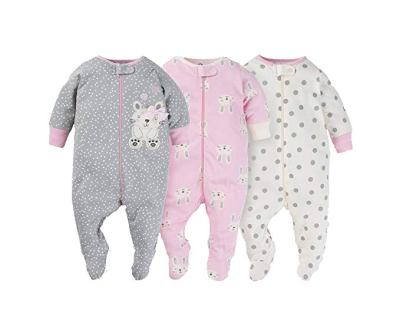 Gerber Onesies Baby Girl Sleep N' Play Sleepers 3 Pack