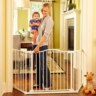 North States 72 inches Wide Deluxe Décor Baby Gate