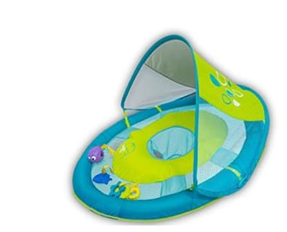 SwimWays Baby Spring Float Sun Canopy With 5 Tethered Toys
