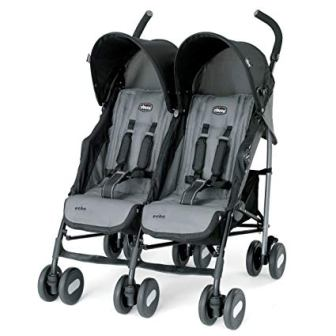 Chicco Echo Coal Twin Stroller