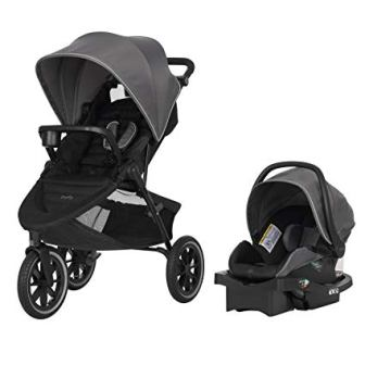 Evenflo Folio3 Stroll & Jog Travel System w/LiteMax 35 Infant Car Seat